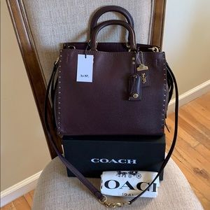 Coach 1941 Rogue with Rivets Oxblood F30457. NWT